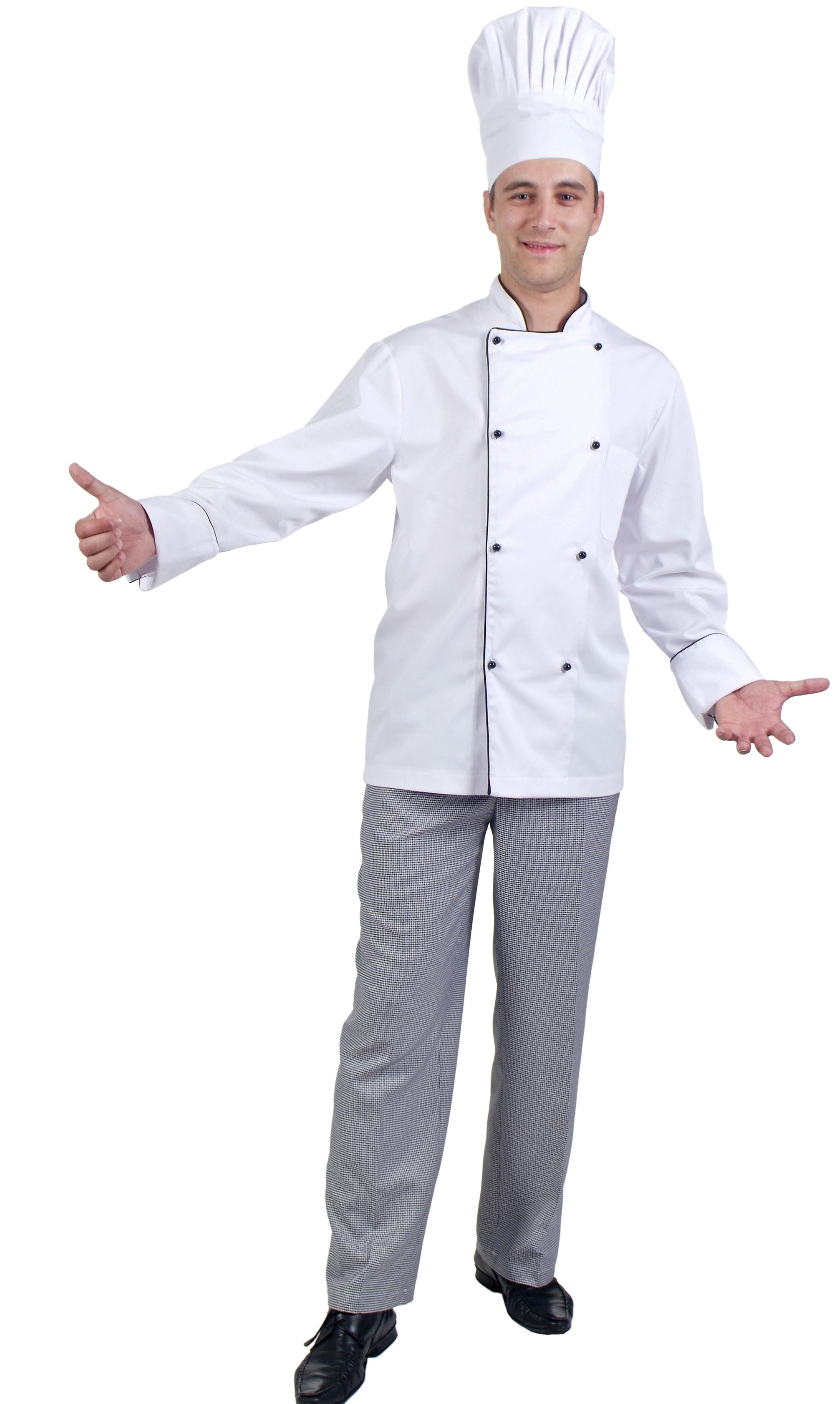 Jalecas de cozinheiro  homem sarja